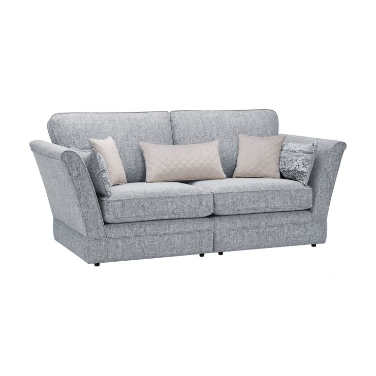 Carrington 3 Seater High Back Sofa in Breathless Fabric - Navy