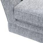 Carrington 3 Seater High Back Sofa in Breathless Fabric - Navy - Thumbnail 7