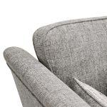 Carrington 3 Seater High Back  Sofa in Breathless Fabric - Silver - Thumbnail 6