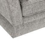 Carrington 3 Seater High Back  Sofa in Breathless Fabric - Silver - Thumbnail 7