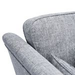 Carrington 4 Seater High Back Sofa in Breathless Fabric - Navy - Thumbnail 7