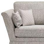 Carrington 4 Seater High Back Sofa in Breathless Fabric - Silver - Thumbnail 5