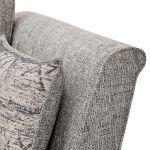 Carrington 4 Seater High Back Sofa in Breathless Fabric - Silver - Thumbnail 6