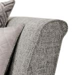 Carrington 4 Seater Pillow Back Sofa in Breathless Fabric - Silver - Thumbnail 6
