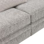 Carrington 4 Seater Pillow Back Sofa in Breathless Fabric - Silver - Thumbnail 8