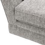 Carrington 4 Seater Pillow Back Sofa in Breathless Fabric - Silver - Thumbnail 9