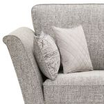 Carrington Loveseat in Breathless Fabric - Silver - Thumbnail 5