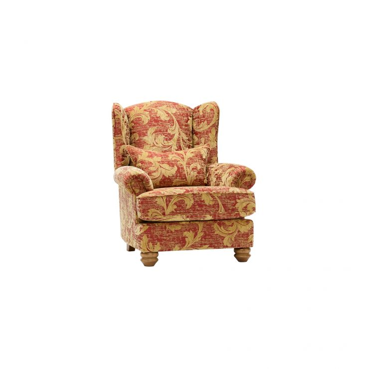Chartwell Wing Chair in Rust - Image 7
