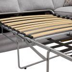 Chelsea Right Hand Corner Sofa Bed in Cosmo Pewter - Thumbnail 3