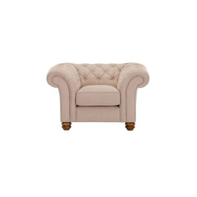 Chesterfield Armchair in Orchid Beige