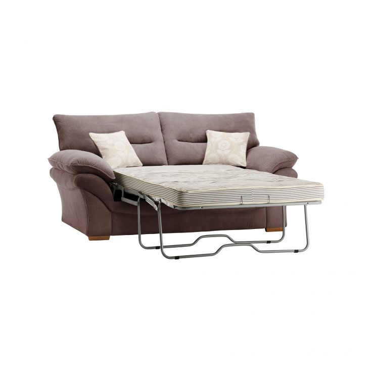Chloe 2 Seater Deluxe Sofa Bed in Dynasty Fabric - Taupe - Image 7
