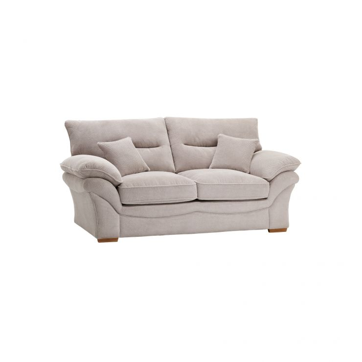 Chloe 2 Seater Sofa High Back in Breeze Fabric - Silver