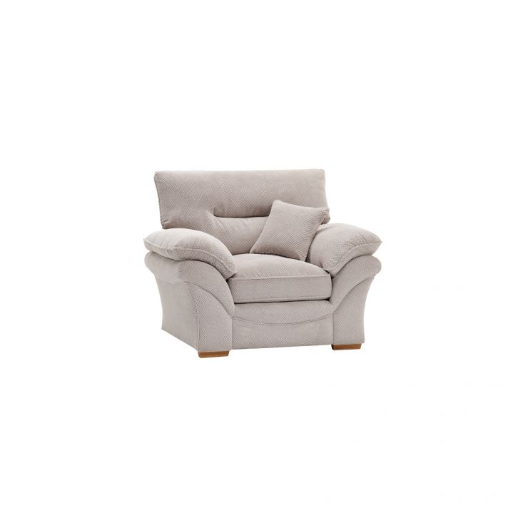Chloe Armchair in Breeze Fabric - Silver - Image 1