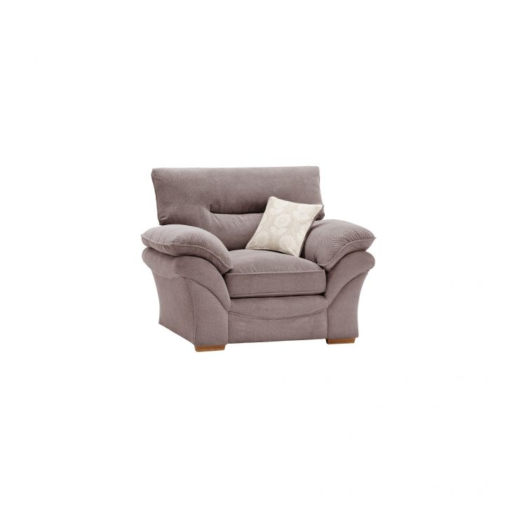 Chloe Armchair in Dynasty Fabric - Taupe