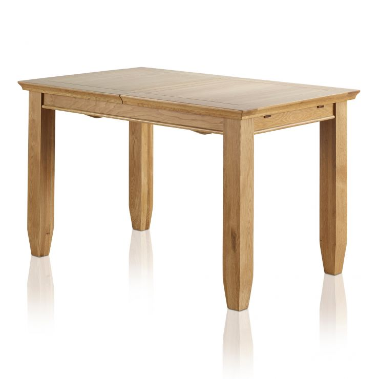 "Classic Natural Solid Oak 4ft 3"" x 2ft 7"" Extending Dining Table - Image 5"