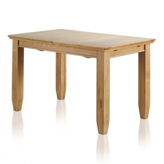 """Classic Natural Solid Oak 4ft 3"""" x 2ft 7"""" Extending Dining Table"""