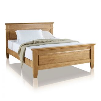 "Classic Natural Solid Oak 4ft 6"" Double Bed"