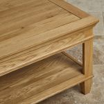 Classic Natural Solid Oak Coffee Table - Thumbnail 4