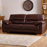 Clayton 2 Seater Sofa in Black Leather - Thumbnail 2