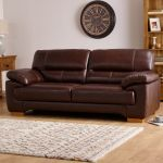 Clayton 3 Seater Sofa in Light Brown Leather - Thumbnail 2