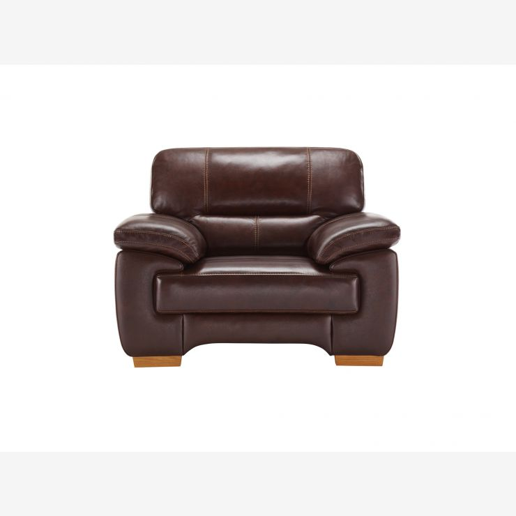 Clayton Armchair in Brown Leather - Image 2