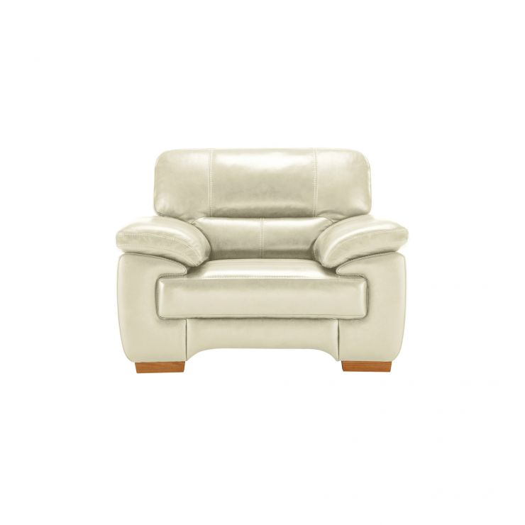 Clayton Armchair in Cream Leather