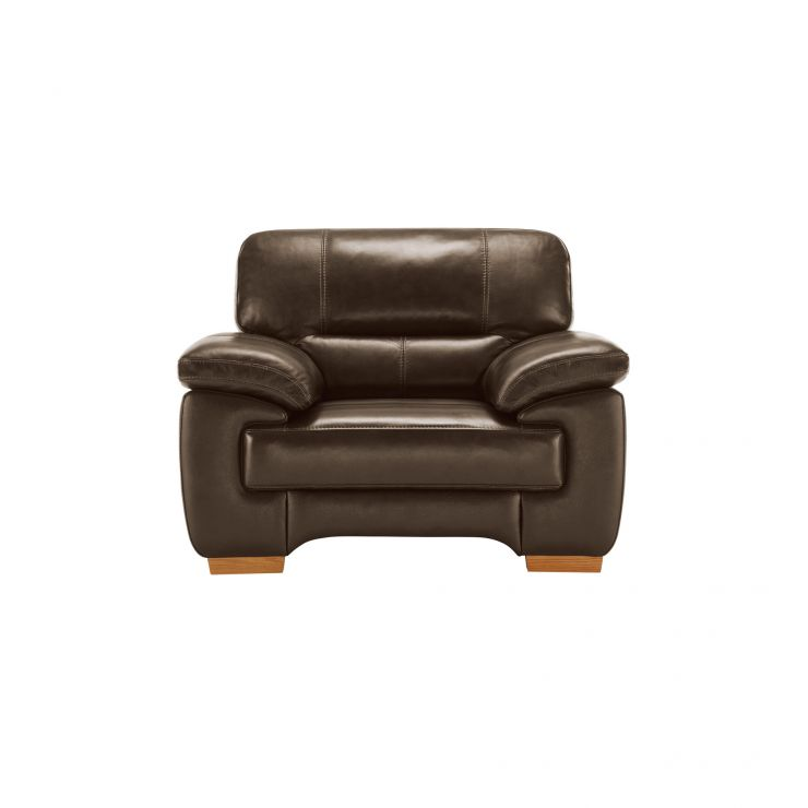 Clayton Armchair in Light Brown Leather - Image 2