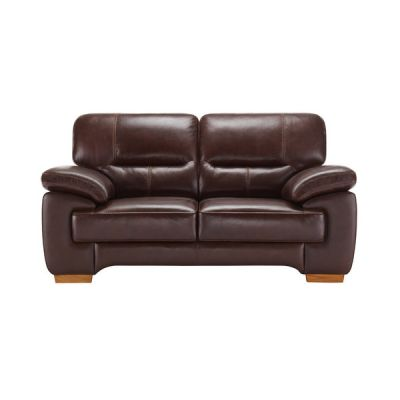 Clayton 2 Seater Sofa in Brown Leather
