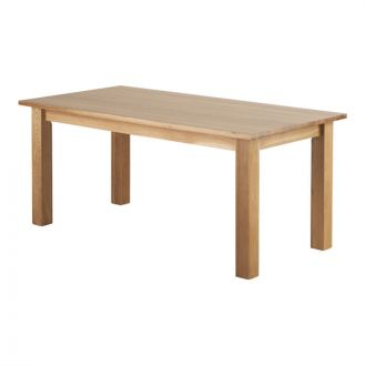 Contemporary Natural Solid Oak 6ft x 3ft Dining Table
