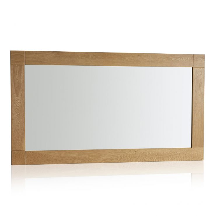 Contemporary Natural Solid Oak 1500mm x 800mm Wall Mirror - Image 4