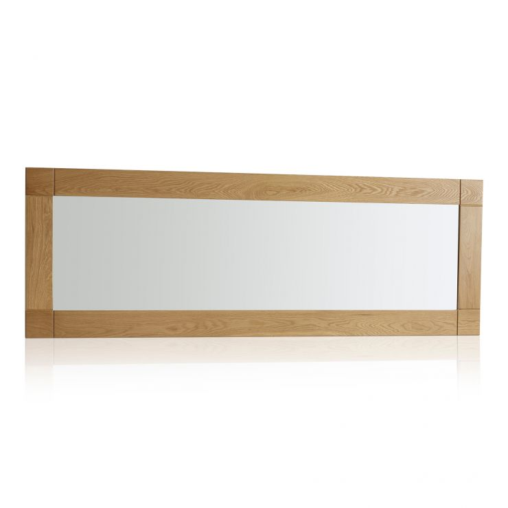 Contemporary Natural Solid Oak 1800mm x 600mm Wall Mirror - Image 4