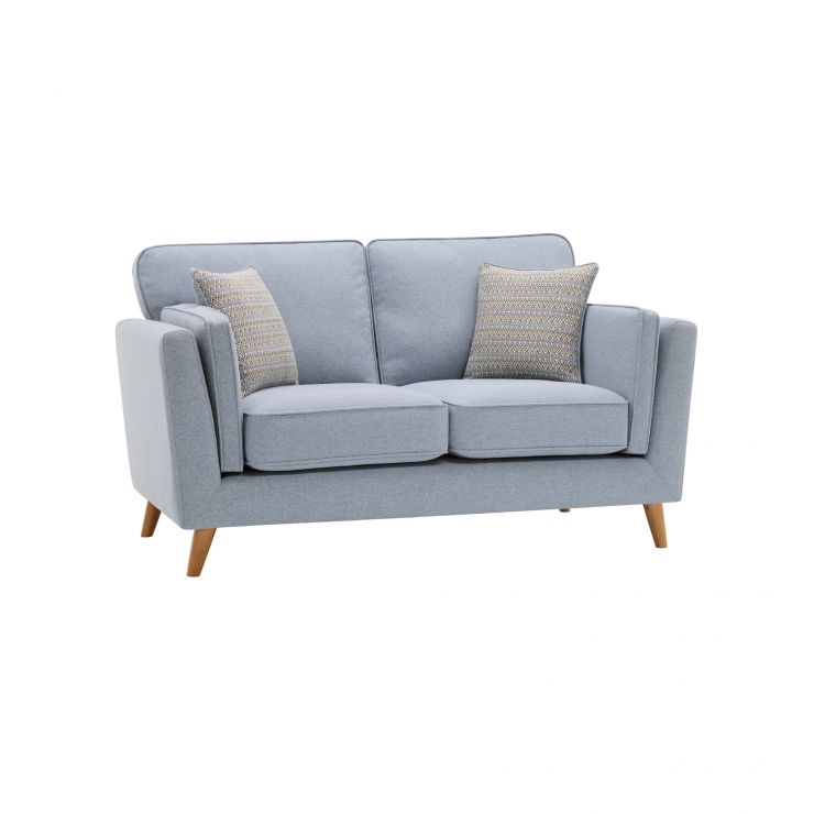 Cooper 2 Seater Sofa in Sprite Fabric - Blue - Image 11