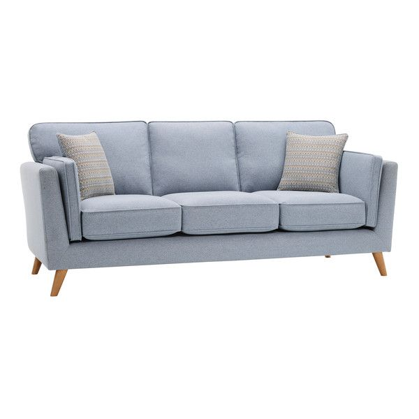 Cooper 3 Seater Sofa in Sprite Fabric - Blue