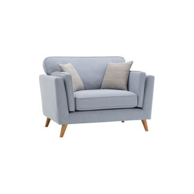 Cooper Loveseat in Sprite Fabric - Blue