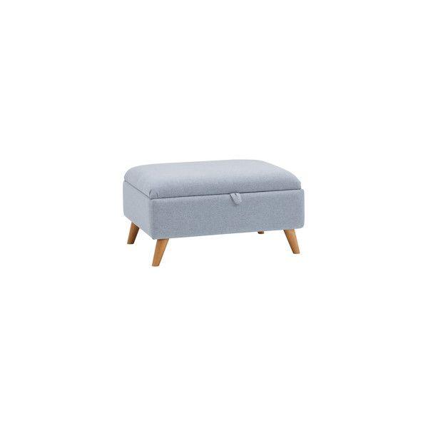 Cooper Storage Footstool in Sprite - Blue