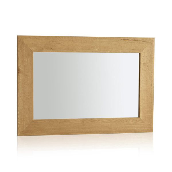 Cosmopolitan Mirror Natural Solid Oak 900mm x 600mm Wall Mirror