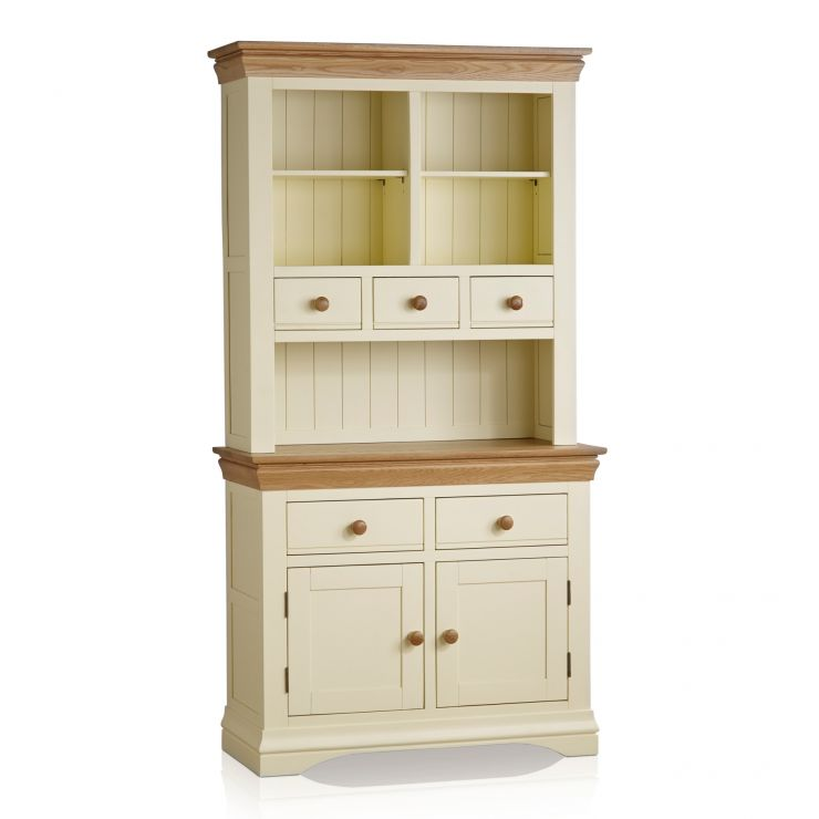 Country Cottage Natural Oak and Painted Small Dresser - Image 1