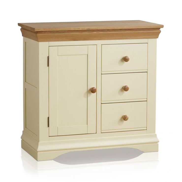 Country Cottage Natural Oak and Painted Storage Cabinet - Image 7