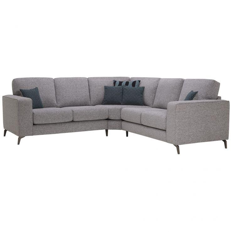 Cube 2 x 2 Grey Corner Sofa in Fabric
