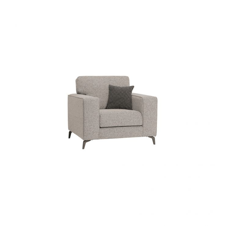 Cube Stone Armchair in Fabric - Image 1