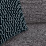 Cube Left Hand Charcoal Corner Sofa in Fabric - Thumbnail 7