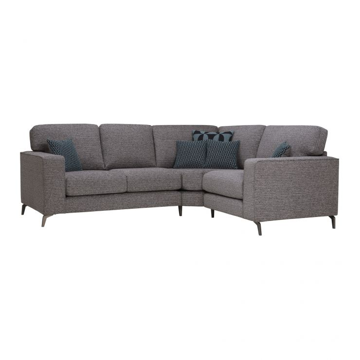 Cube Left Hand Charcoal Corner Sofa in Fabric