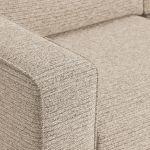 Cube Right Hand Beige Corner Sofa in Fabric - Thumbnail 4