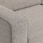 Cube Right Hand Stone Corner Sofa in Fabric - Thumbnail 4