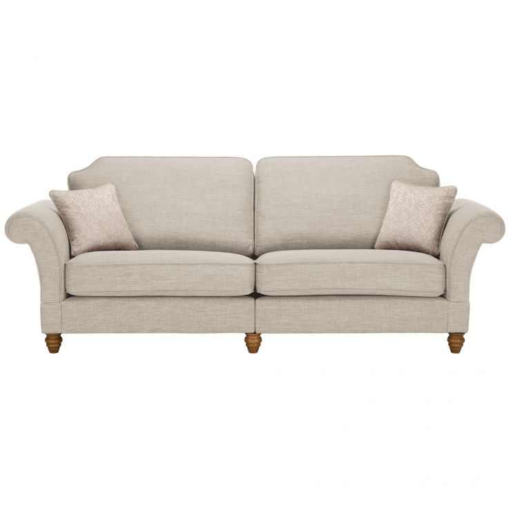 Dorchester 4 Seater High Back Sofa in Civic Stone with Oyster Scatters - Image 1