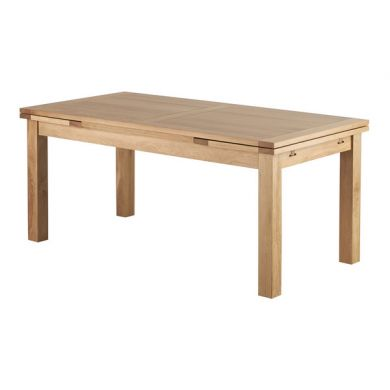 6ft x 3ft Natural Solid Oak Extending Dining Table (Seats up to12 people Extended)