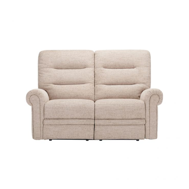Eastbourne Electric Reclining 2 Seater Sofa - Oatmeal Fabric - Image 1