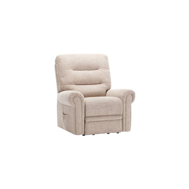 Eastbourne Electric Riser/Recliner Armchair - Oatmeal Fabric - Image 9