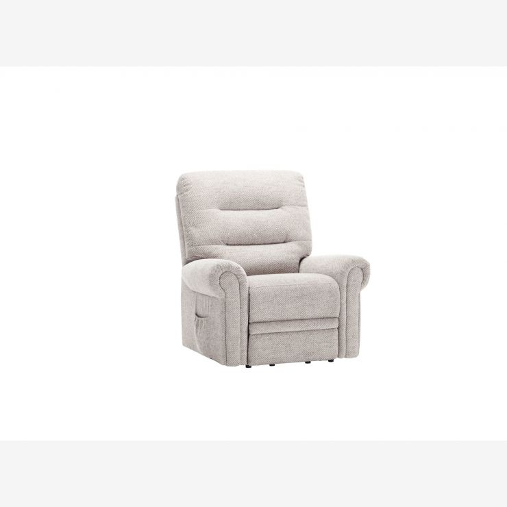 Eastbourne Electric Riser/Recliner Armchair - Silver Fabric