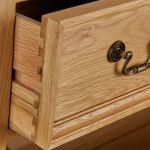 Edinburgh Natural Solid Oak 2 Drawer Bedside Table - Thumbnail 4